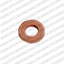 Injector base gasket in copper | 14 x 10 x 0,80 mm