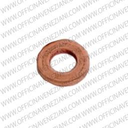 Injector base gasket in copper | 14 x 10 x 0,80 mm